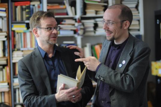 Foto Lesung trifft Impro, Dirk Lausch, Thomas Jäkel, Foto von Bertolt Prächt
